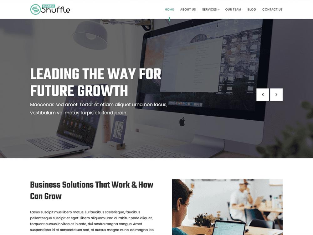 Free Business Shuffle WordPress theme