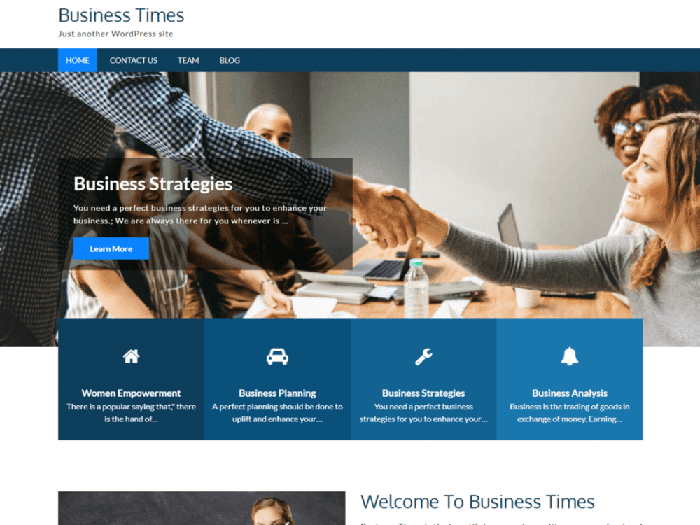Free Business Times WordPress theme