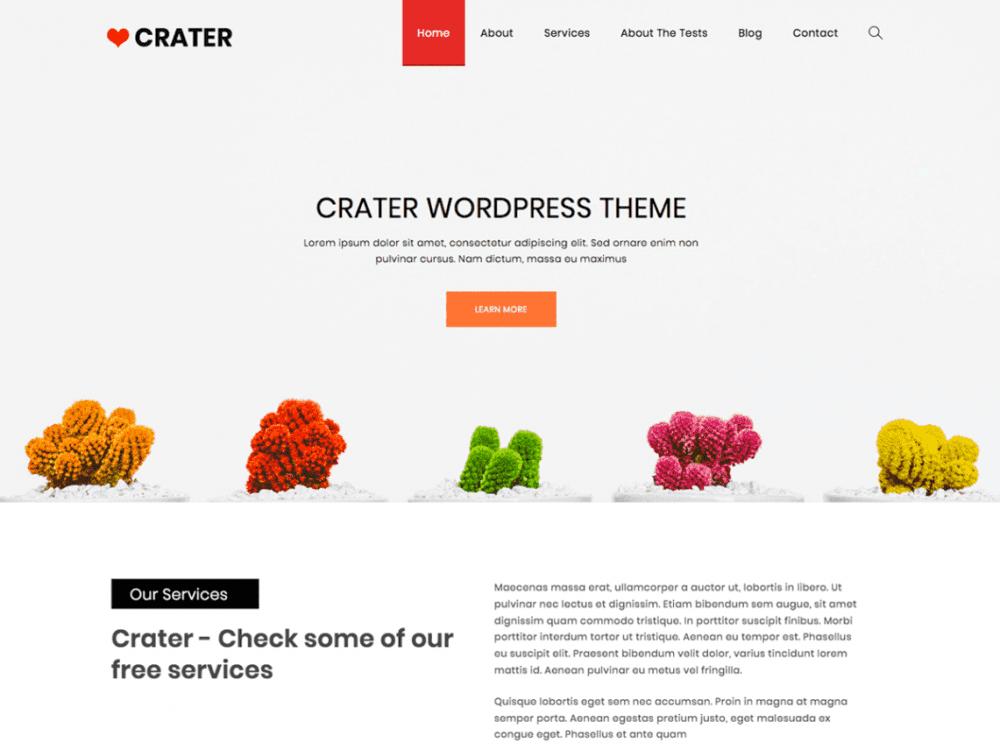 Free Crater WordPress theme