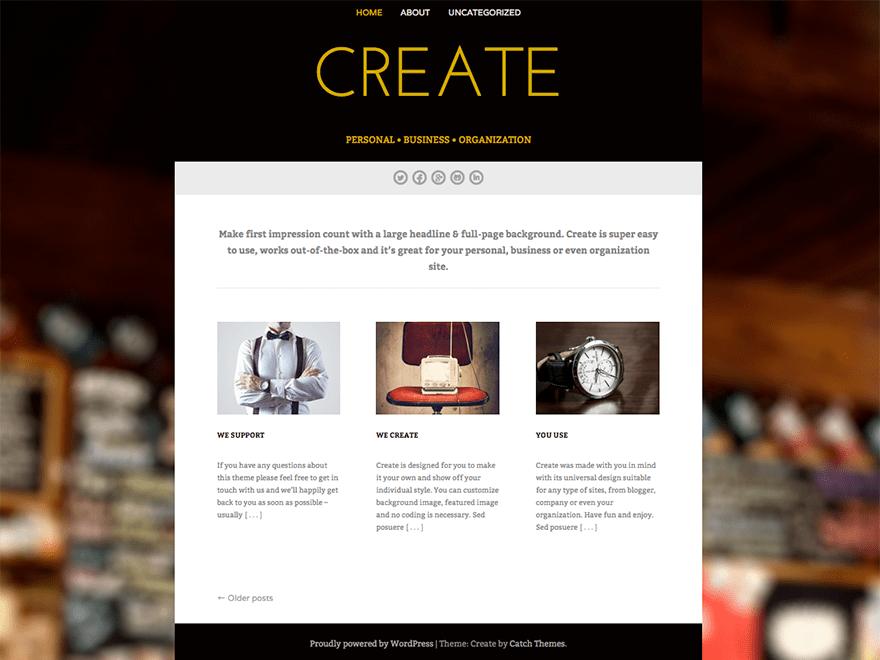 Free Create WordPress theme