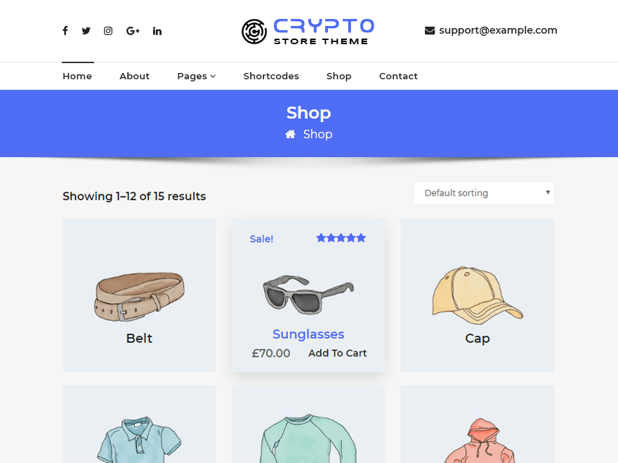 Free CryptoStore WordPress theme