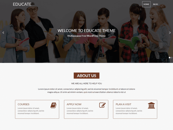 Free Educate WordPress theme