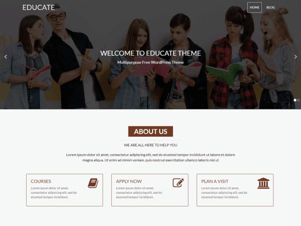 Free Educate WordPress theme