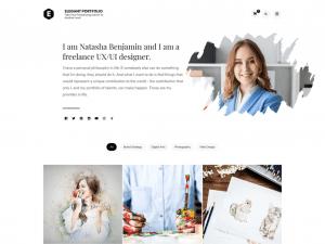 Free Elegant Portfolio WordPress theme