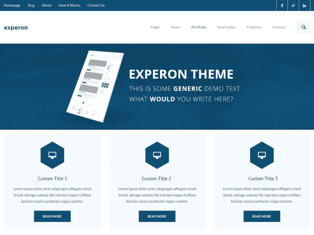 Free Experon eBusiness WordPress theme