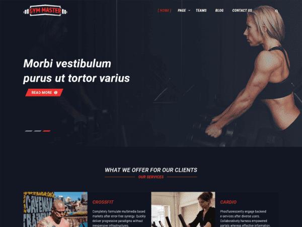 Free Gym Master WordPress theme