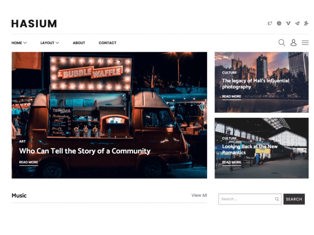 Free Hasium WordPress theme
