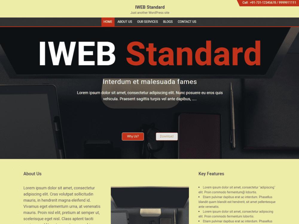 Free IWEB Standard WordPress theme