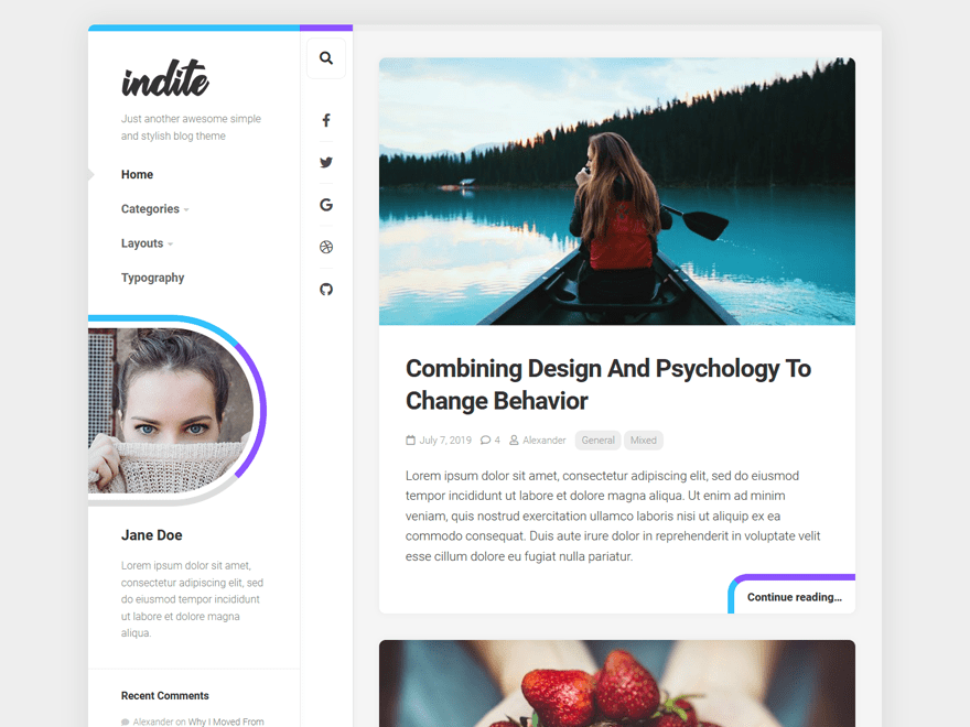 Free Indite WordPress theme