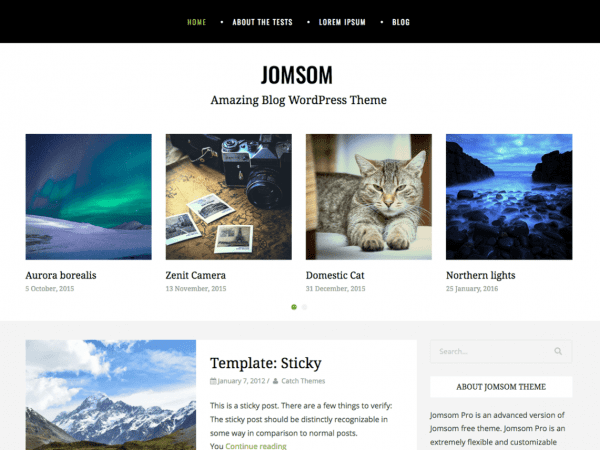 Free Jomsom WordPress theme