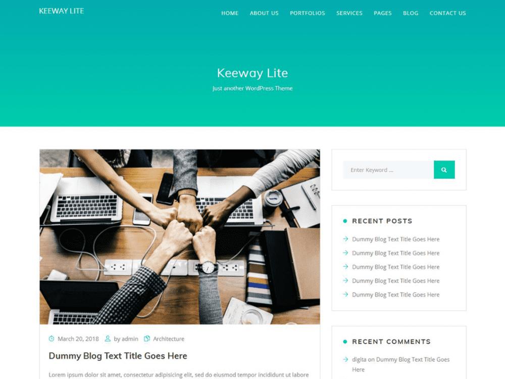 Free Keeway Lite WordPress theme