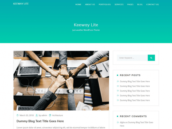 Free Keeway Lite WordPress theme