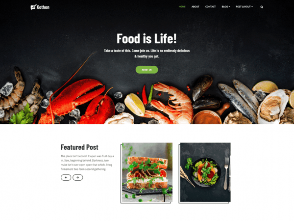 Free KhaddoKothon WordPress theme