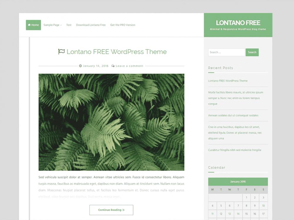 Free Lontano WordPress theme