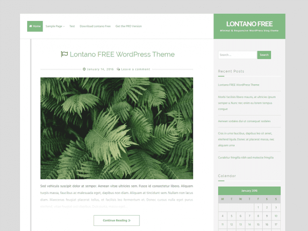 Free Lontano WordPress theme