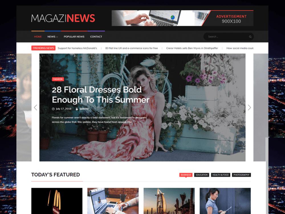 Free Magazinews WordPress theme