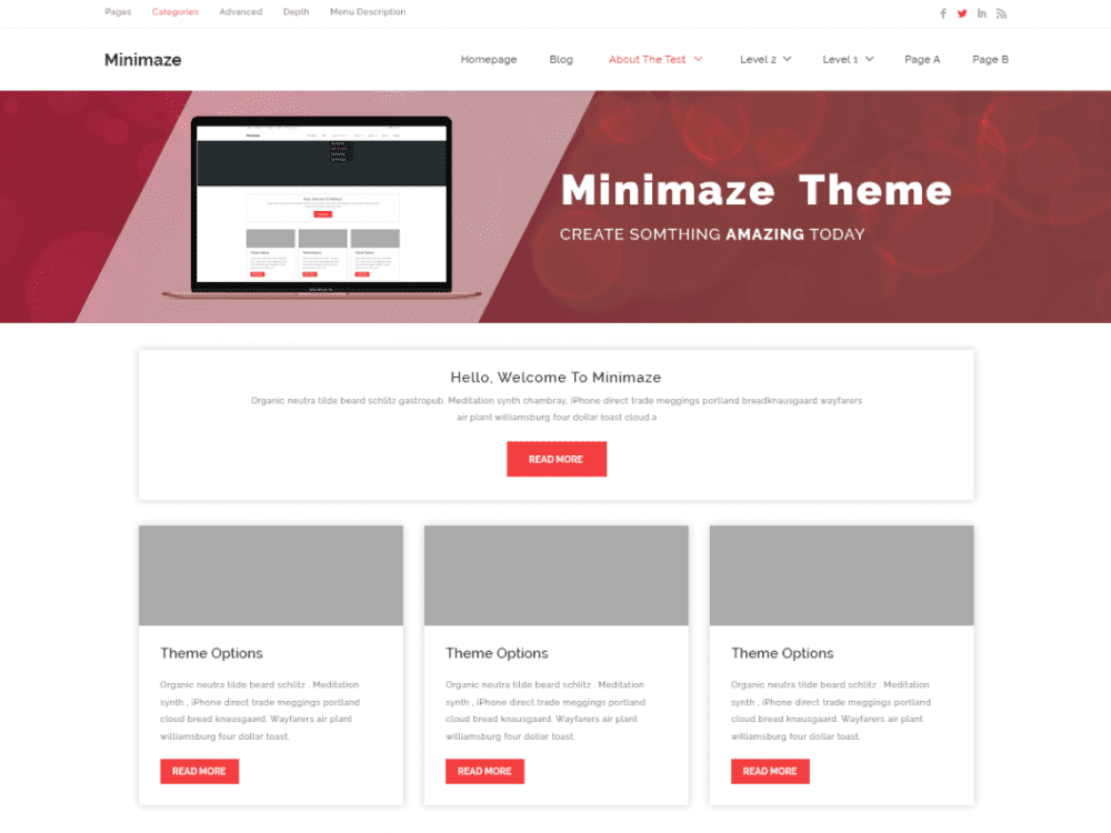 Free Minamaze Business WordPress theme