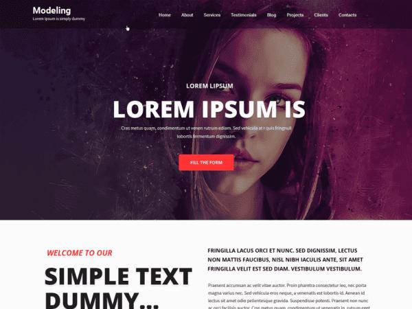 Free Modeling Lite WordPress theme