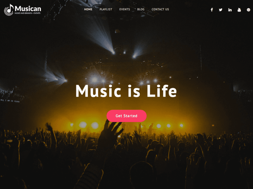 Free Musican WordPress theme