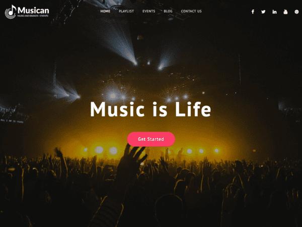 Free Musican WordPress theme