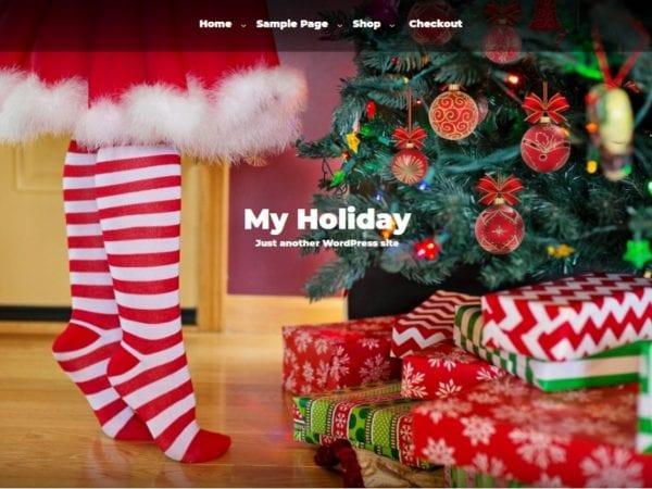 Free My Holiday WordPress theme