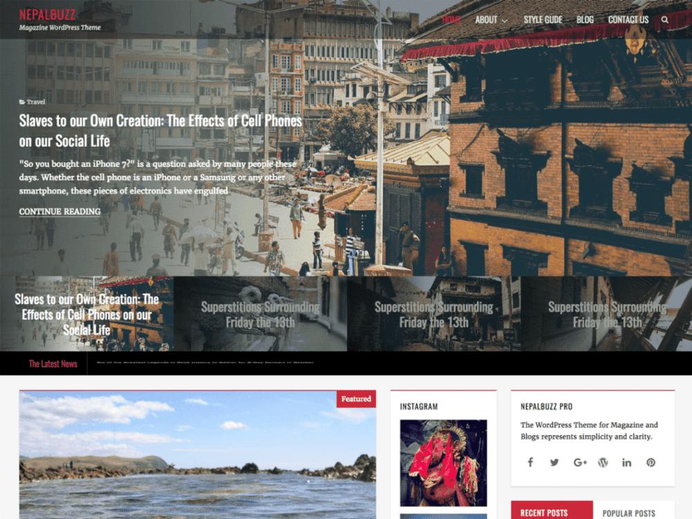 Free NepalBuzz WordPress theme