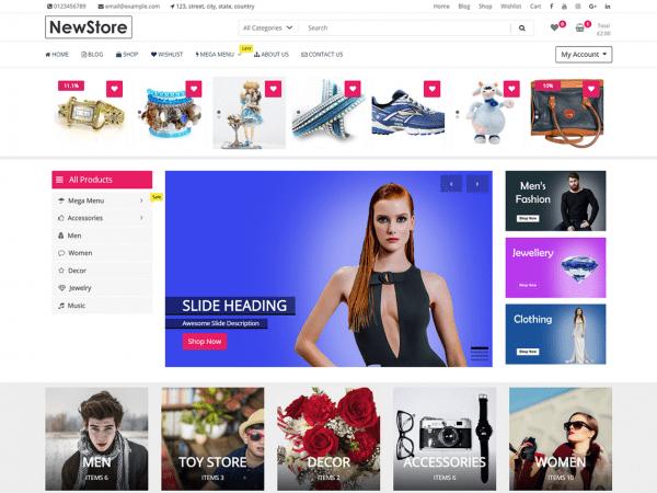 Free NewStore WordPress theme