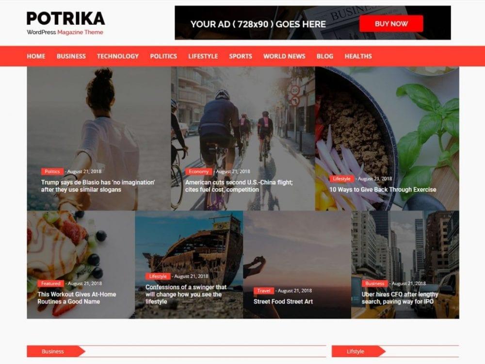 Free NewsPotrika WordPress theme