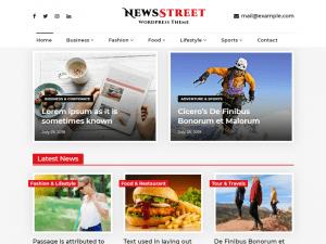 Free NewsStreet WordPress theme