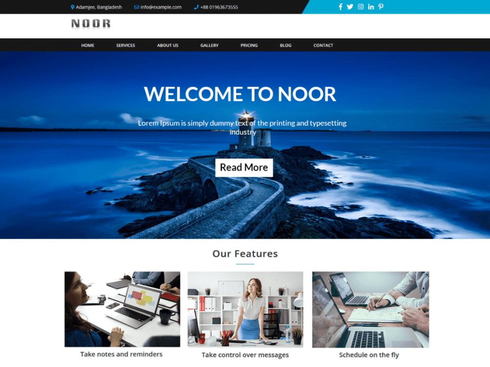 Free NoorLite WordPress theme