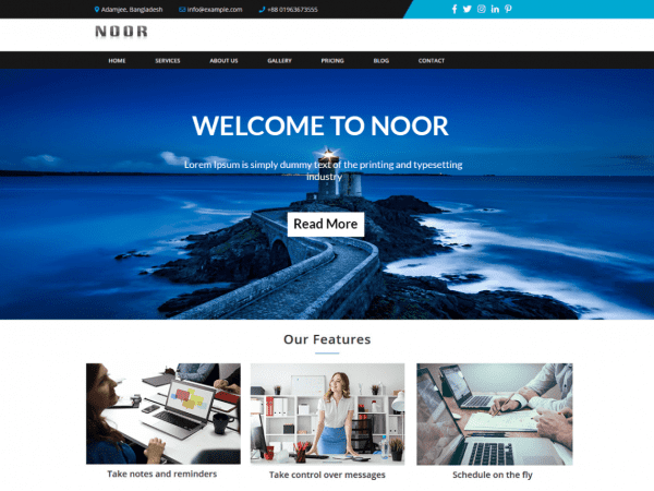 Free NoorLite WordPress theme