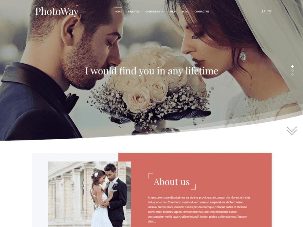 Free Photoway WordPress theme