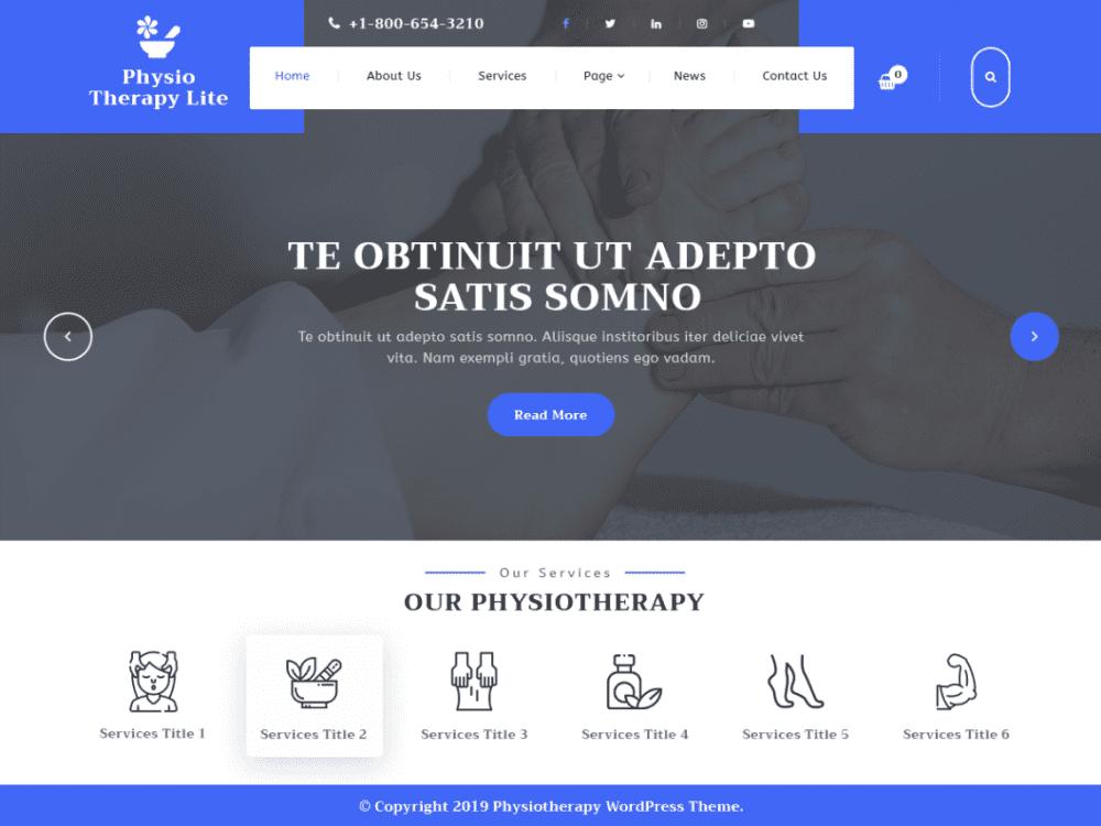Free Physiotherapy Lite WordPress theme