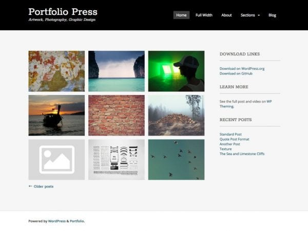 Free Portfolio Press WordPress theme