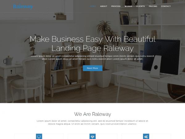 Free Raleway Lite WordPress theme
