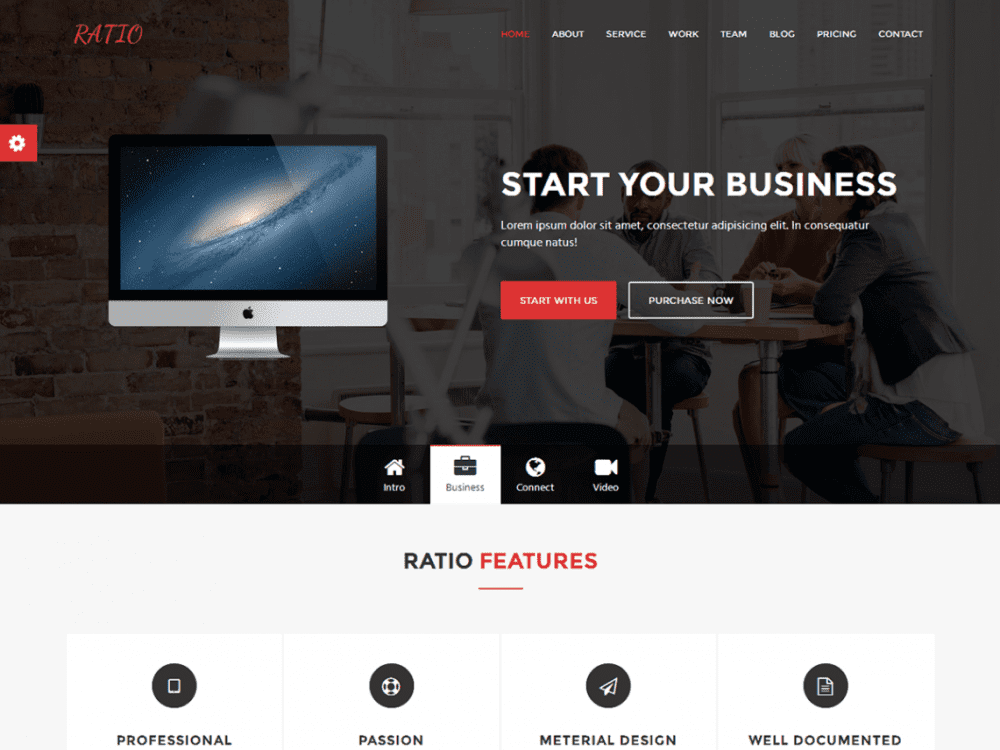 Free Ratio Lite WordPress theme