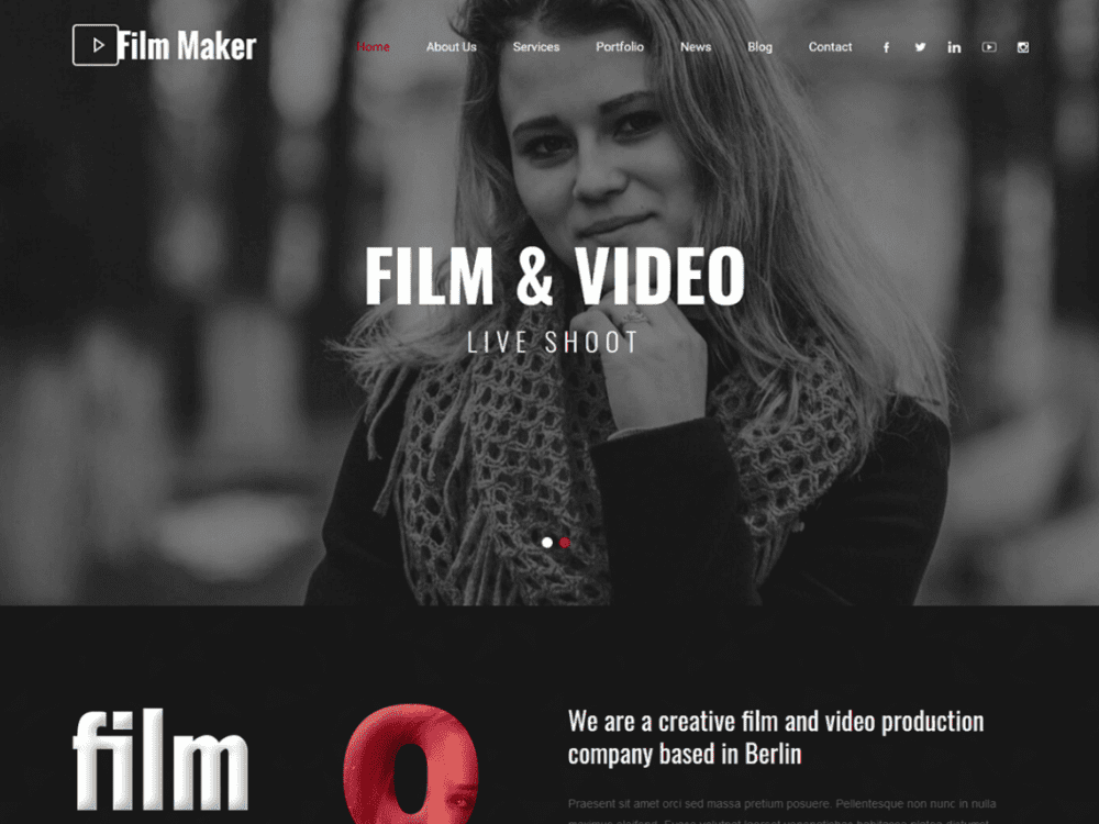Free SKT Filmmaker WordPress theme