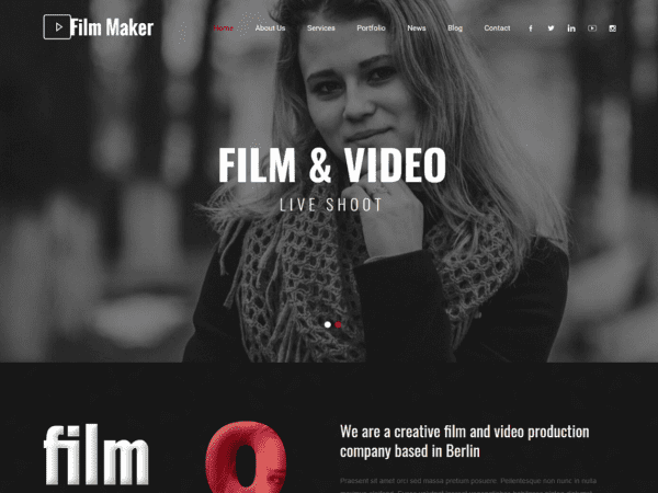 Free SKT Filmmaker WordPress theme