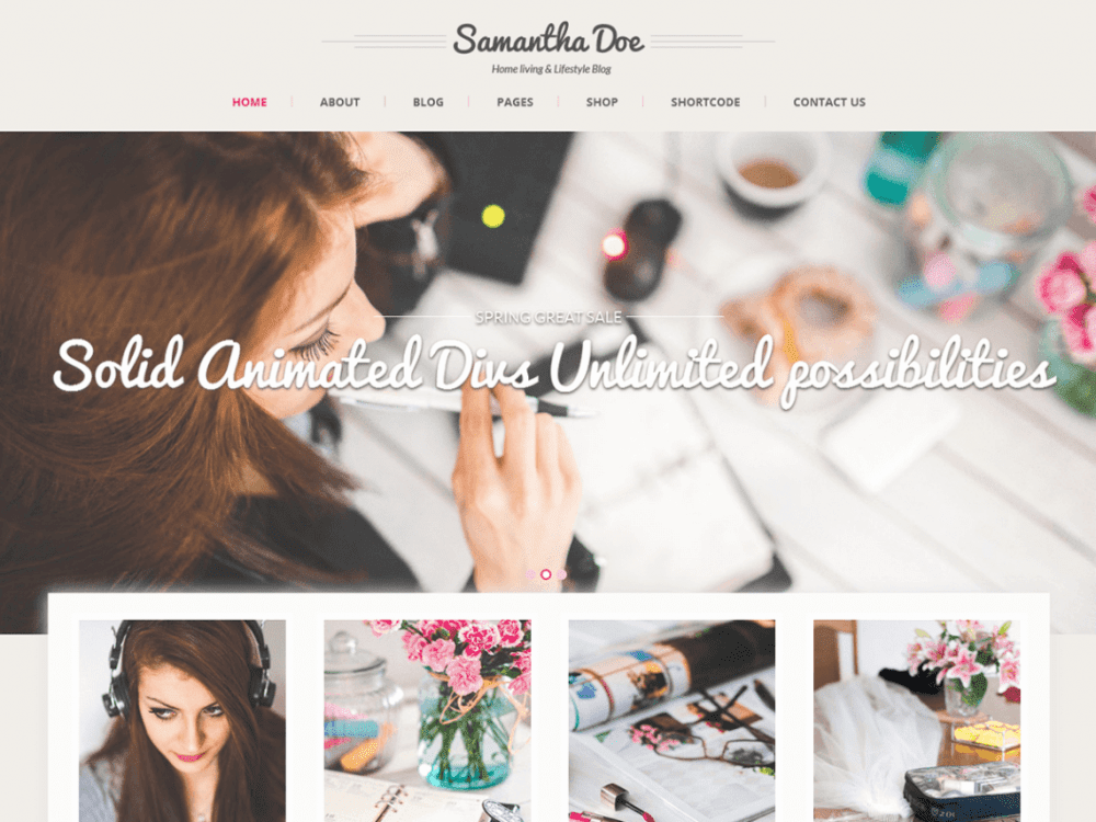 Free SKT Girlie Lite WordPress theme