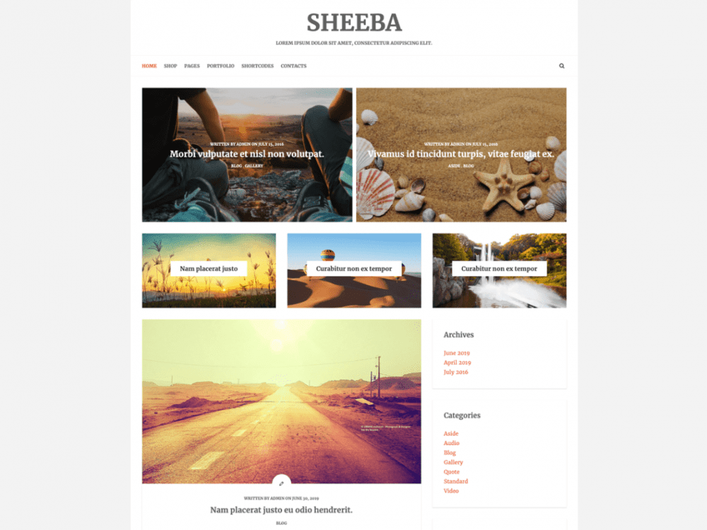 Free Sheeba Lite WordPress theme
