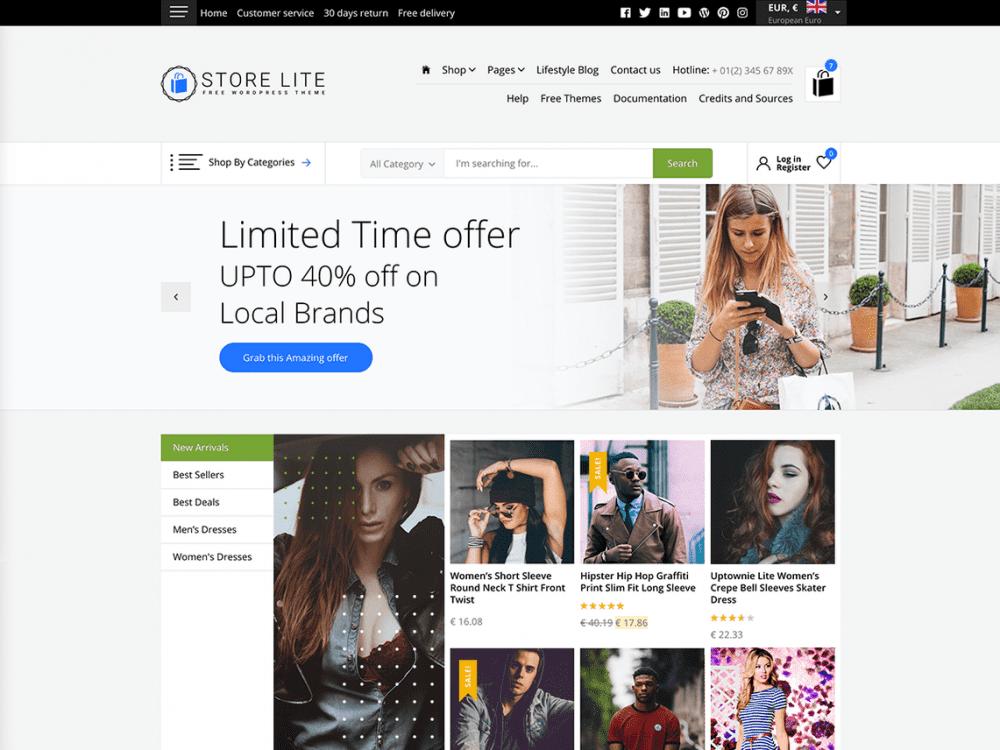 Free Store Lite WordPress theme