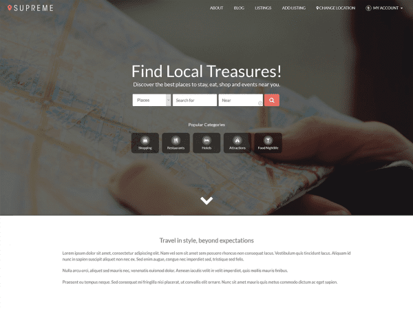 Free Supreme Directory WordPress theme