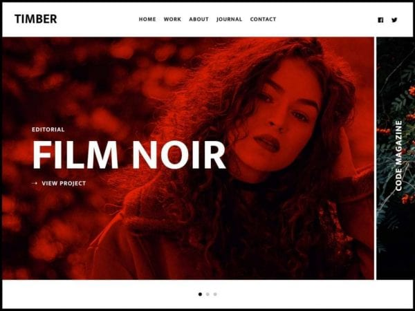 Free Timber Lite WordPress theme