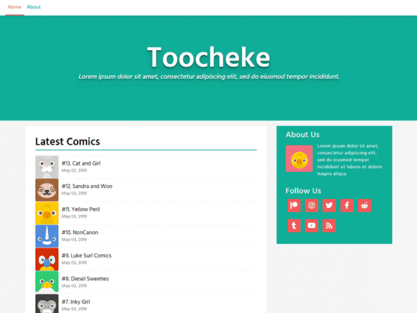 Free Toocheke WordPress theme