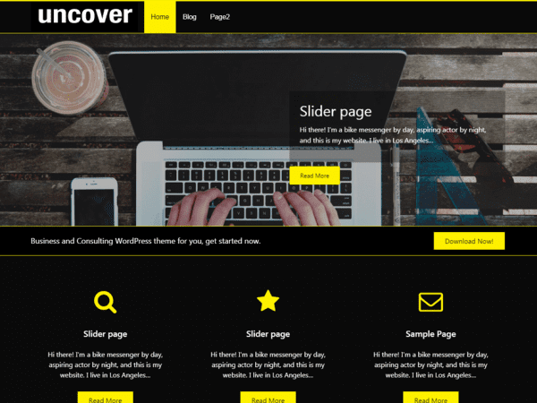 Free Uncover WordPress theme