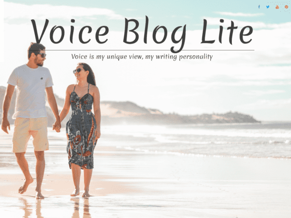Free Voice Blog Lite WordPress theme