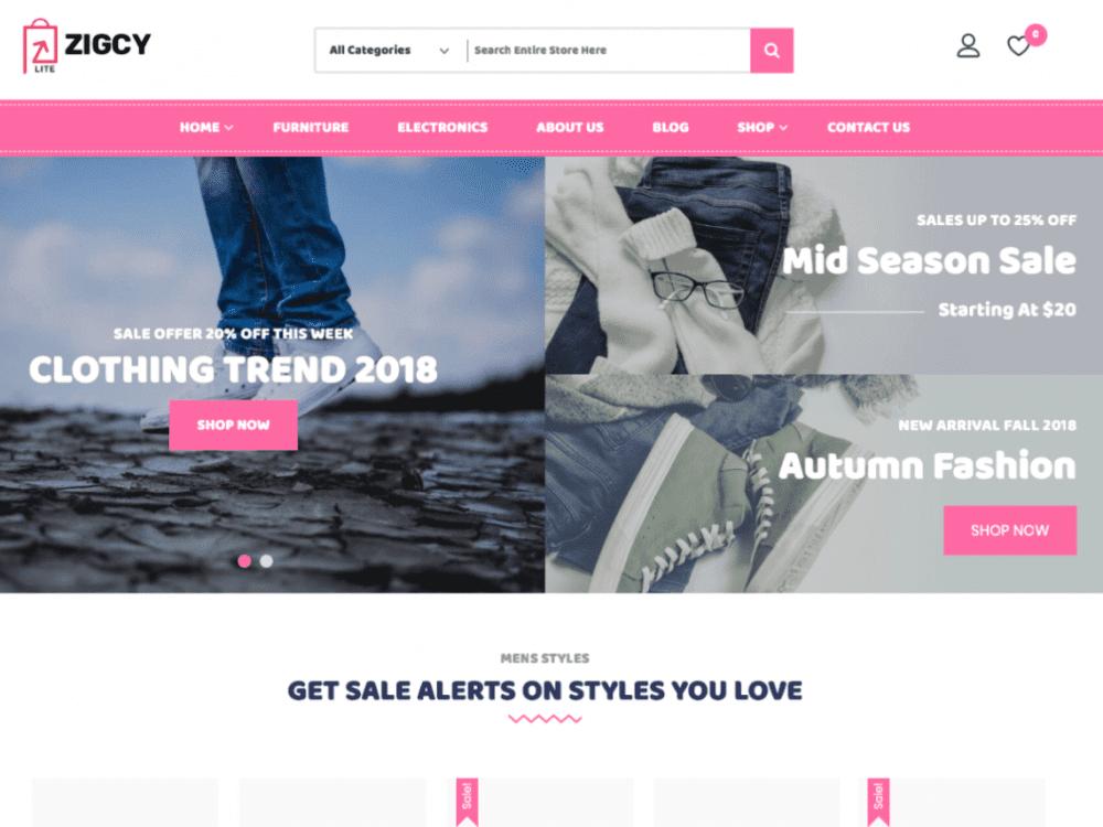 Free Zigcy Baby WordPress theme