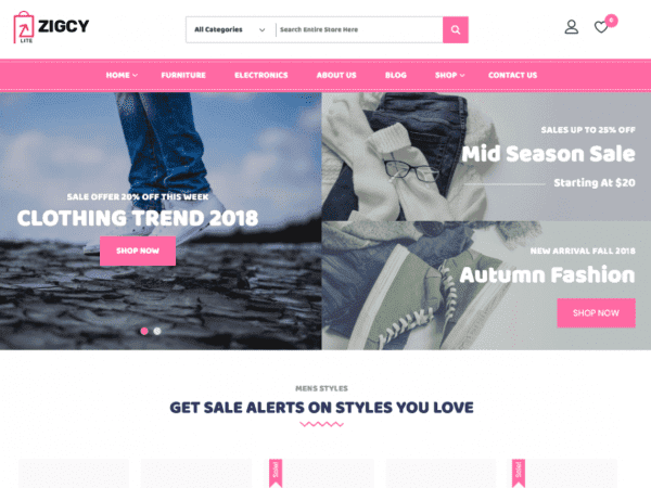 Free Zigcy Baby WordPress theme