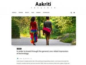 Free Aakriti Personal Blog WordPress theme