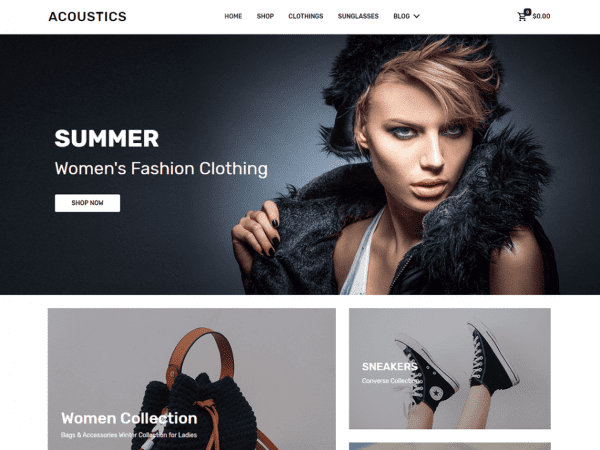 Free Acoustics WordPress theme